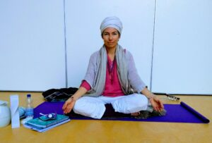 Giving yoga lessons in Eindhoven